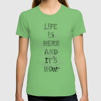 Life Is There Womens Fitted Tee Grass SMALL