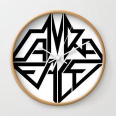 CamRaFace Logo White for T-Shirts Wall Clock