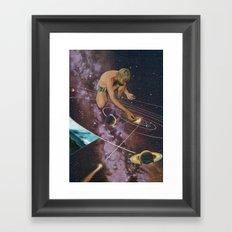Magical fire Framed Art Print
