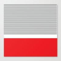 Red Stripe Canvas Print