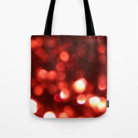 Red Blurred Lights Tote Bag