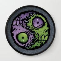 Zombie Yin-Yang Wall Clock