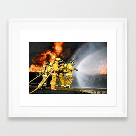 Firefighters Framed Art Print