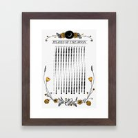 2015 Illustrated Phases of the Moon Calendar Framed Art Print