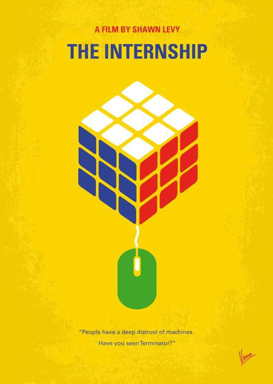 No215 My The Internship minimal movie poster Art Print