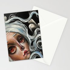 White Spirits :: Pop Surrealism Painting Stationery Cards