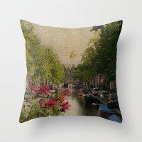 Amsterdam mon amour Throw Pillow