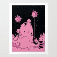 Quest 2 (Pink) Art Print