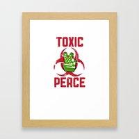 TOXIC PEACE Framed Art Print