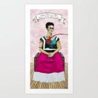 Frida Kahlo With Dr. Sue… Art Print