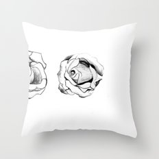 Two Roses for my Friends Throw Pillow