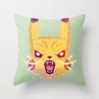 Voltage Pikachu Throw Pillow