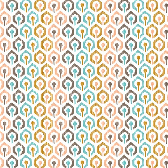 Honeycomb IKAT - Ivory Canvas Print