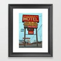 Motel Americana Framed Art Print