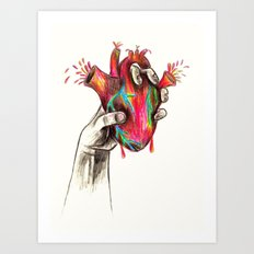 Zombie Heart Design by Colleen Trillow Art Print