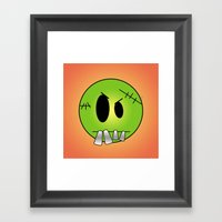 Scary Little Frankinstei… Framed Art Print