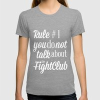 Fight Club Womens Fitted Tee Tri-Grey SMALL