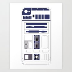 R2D2 iPhone Case Art Print