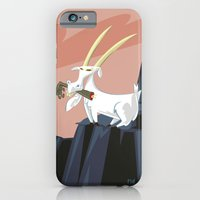 iPhone & iPod Case featuring Trashmouth Goat, the Frost Giant Slayer by David Finley