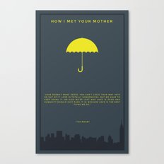 How I Met Your Mother - Yellow Umbrella Canvas Print