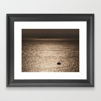Out In The Metallic Sea Framed Art Print