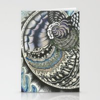 Golden Spiral (no fear) Stationery Cards