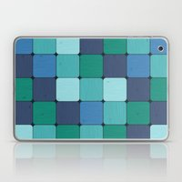 Blue Wood Blocks Laptop & iPad Skin