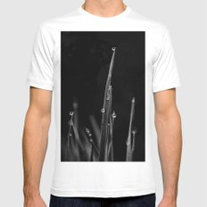Black Grass Mens Fitted Tee White SMALL