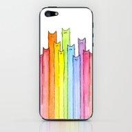 Cat Rainbow Watercolor P… iPhone & iPod Skin