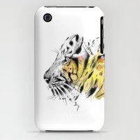 iPhone Cases featuring Tiger by Mia Mandela