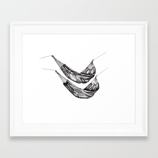 Check out my Hammocks! Framed Art Print