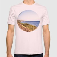 California Coast  Mens Fitted Tee Light Pink SMALL