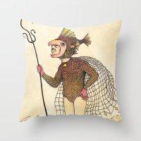 El Pescado Throw Pillow