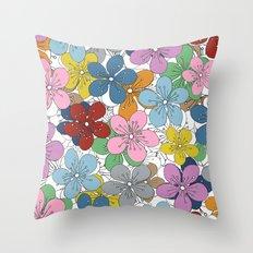 Cherry Blossom Colour - In Memory of Mackenzie Throw Pillow