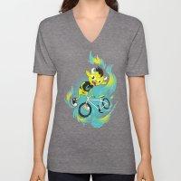 Monster Pixie Riding a Fixie Unisex V-Neck