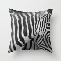 Stripes In A Line... Throw Pillow