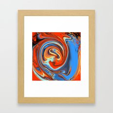 Red, Blue, And Yellow Li… Framed Art Print