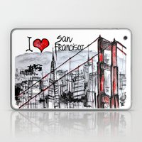 I love San Francisco  Laptop & iPad Skin