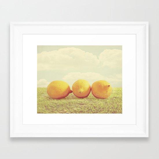 Lemongrass Framed Art Print