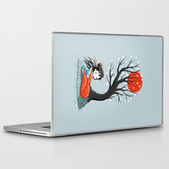 Girl and a Fox 2 Laptop & iPad Skin