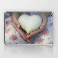 Hands Holding A Heart Laptop & iPad Skin