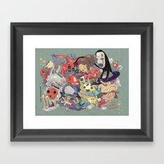 Hayao Miyazaki Framed Art Print