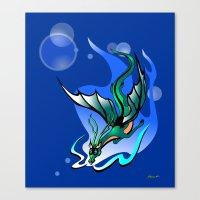 Comet Dragon Canvas Print