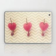 Laptop & iPad Skin featuring Chevron Hearts by RDelean