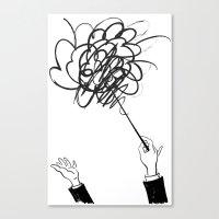 downbeat??  find my beat! Canvas Print