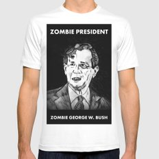 43. Zombie George W. Bush  White SMALL Mens Fitted Tee