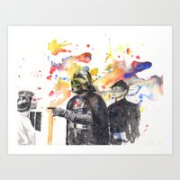 Darth Vader Pointing Lei… Art Print