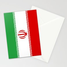 Flag of iran Stationery Cards