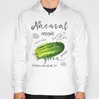 Watercolor cucumber Hoody