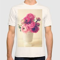 Cottage Flowers Mens Fitted Tee Natural SMALL